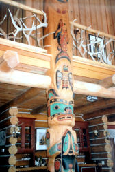 Lower portion of Totem Pole used as a support pole