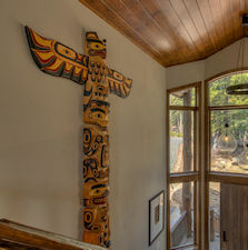 custom wall totem pole